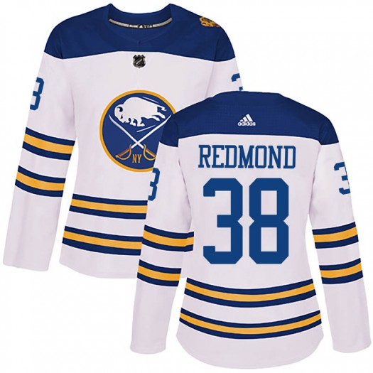Zach Redmond Buffalo Sabres Women's Adidas Authentic White 2018 Winter Classic Jersey