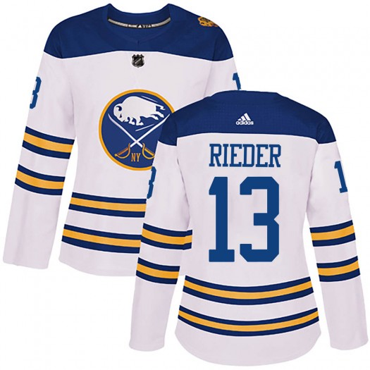 Tobias Rieder Buffalo Sabres Women's Adidas Authentic White 2018 Winter Classic Jersey