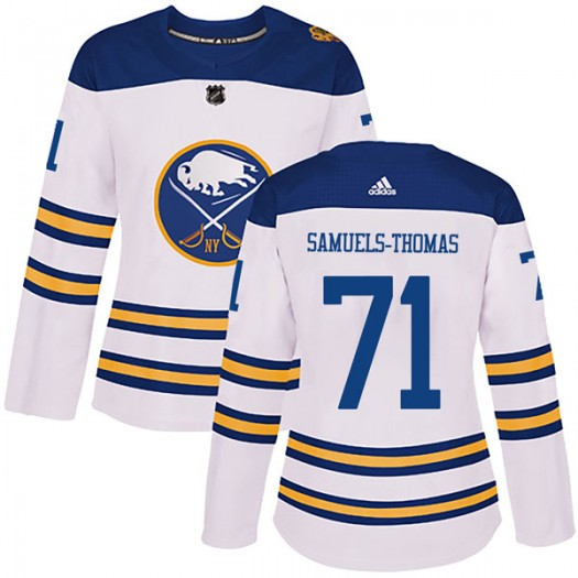Jordan Samuels-Thomas Buffalo Sabres Women's Adidas Authentic White 2018 Winter Classic Jersey