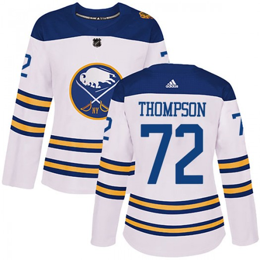 Tage Thompson Buffalo Sabres Women's Adidas Authentic White 2018 Winter Classic Jersey
