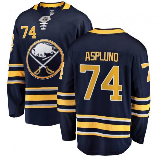 Rasmus Asplund Buffalo Sabres Youth Fanatics Branded Navy Blue Breakaway Home Jersey