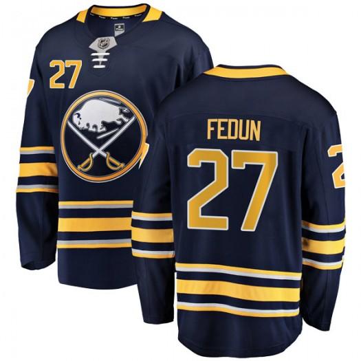 Taylor Fedun Buffalo Sabres Youth Fanatics Branded Navy Blue Breakaway Home Jersey