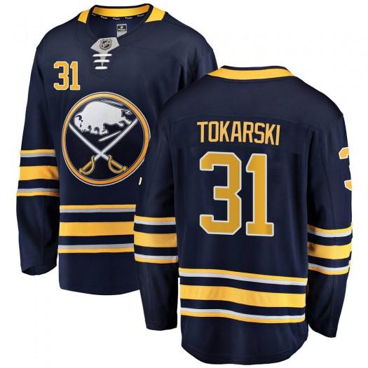 Dustin Tokarski Buffalo Sabres Youth Fanatics Branded Navy Blue Breakaway Home Jersey