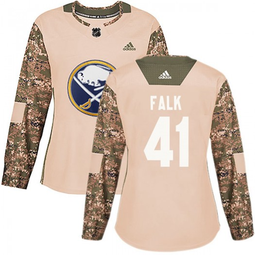 Justin Falk Buffalo Sabres Women's Adidas Authentic Camo Veterans Day Practice Jersey