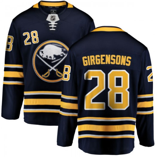 Zemgus Girgensons Buffalo Sabres Youth Fanatics Branded Blue Home Breakaway Jersey