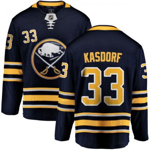 Jason Kasdorf Buffalo Sabres Men's Fanatics Branded Blue Home Breakaway Jersey