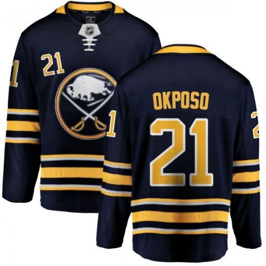 Kyle Okposo Buffalo Sabres Youth Fanatics Branded Blue Home Breakaway Jersey