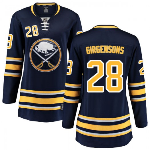 Zemgus Girgensons Buffalo Sabres Women's Fanatics Branded Blue Home Breakaway Jersey