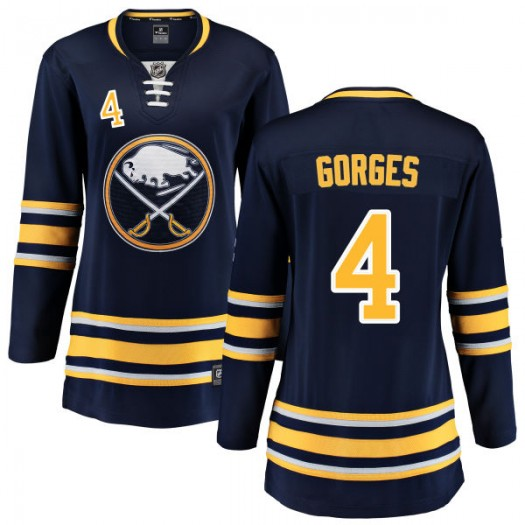 Josh Gorges Buffalo Sabres Women's Fanatics Branded Blue Home Breakaway Jersey