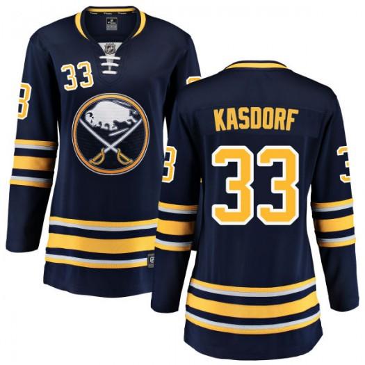 Jason Kasdorf Buffalo Sabres Women's Fanatics Branded Blue Home Breakaway Jersey