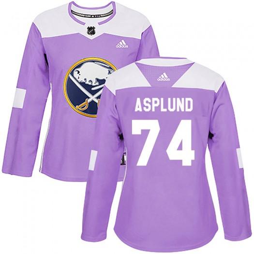 Rasmus Asplund Buffalo Sabres Women's Adidas Authentic Purple Fights Cancer Practice Jersey
