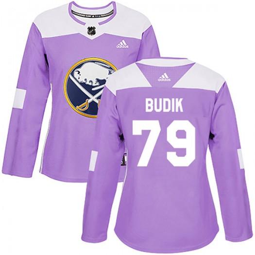 Vojtech Budik Buffalo Sabres Women's Adidas Authentic Purple Fights Cancer Practice Jersey