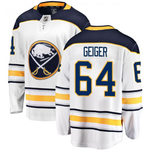 Paul Geiger Buffalo Sabres Youth Fanatics Branded White Breakaway Away Jersey