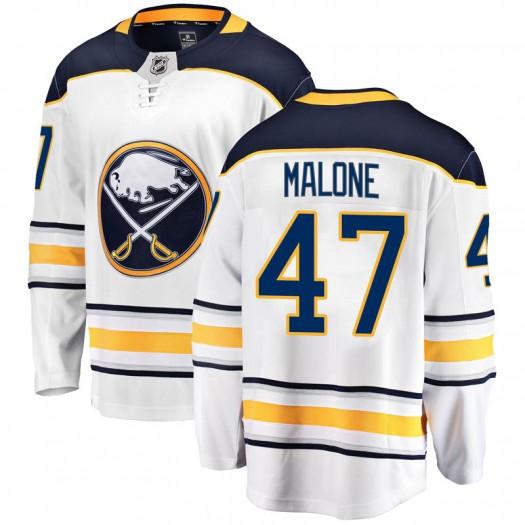 Sean Malone Buffalo Sabres Youth Fanatics Branded White Breakaway Away Jersey