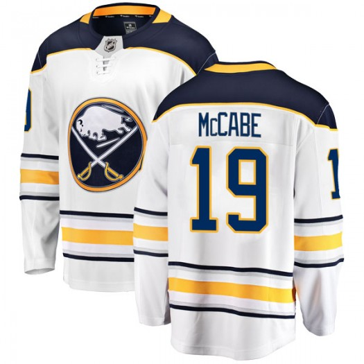 Jake McCabe Buffalo Sabres Youth Fanatics Branded White Breakaway Away Jersey