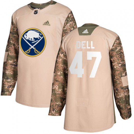 Aaron Dell Buffalo Sabres Men's Adidas Authentic Camo Veterans Day Practice Jersey