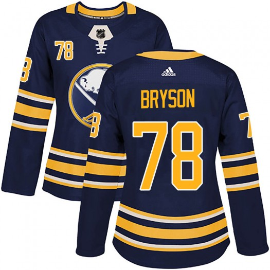 Jacob Bryson Buffalo Sabres Women's Adidas Authentic Navy Home Jersey
