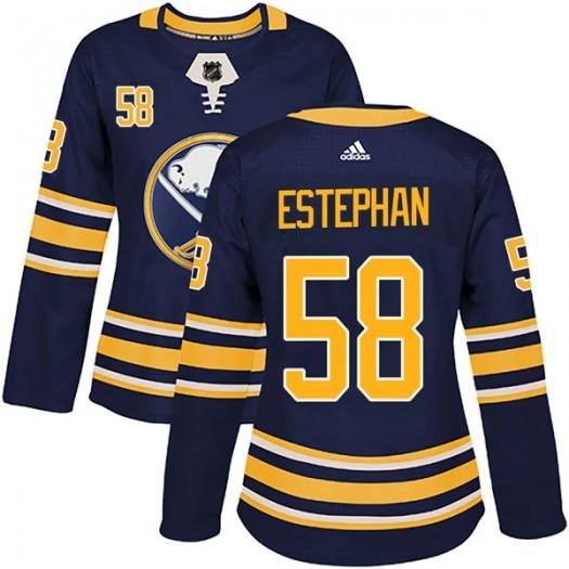 Giorgio Estephan Buffalo Sabres Women's Adidas Authentic Navy Home Jersey