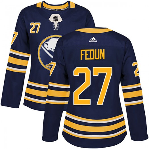 Taylor Fedun Buffalo Sabres Women's Adidas Authentic Navy Home Jersey