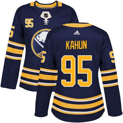 Dominik Kahun Buffalo Sabres Women's Adidas Authentic Navy ized Home Jersey