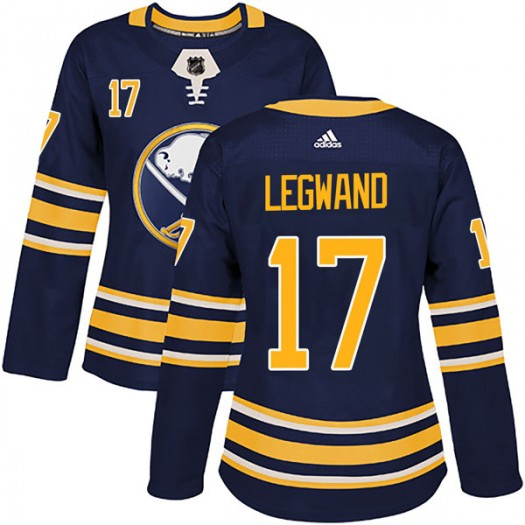 David Legwand Buffalo Sabres Women's Adidas Authentic Navy Home Jersey