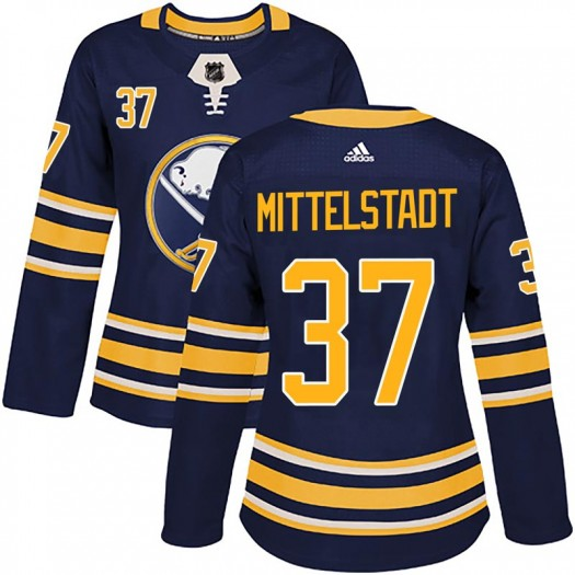 Casey Mittelstadt Buffalo Sabres Women's Adidas Authentic Navy Home Jersey