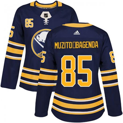 Daniel Muzito-Bagenda Buffalo Sabres Women's Adidas Authentic Navy Home Jersey