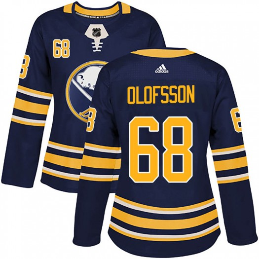 Victor Olofsson Buffalo Sabres Women's Adidas Authentic Navy Home Jersey