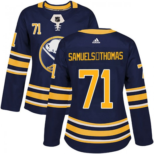 Jordan Samuels-Thomas Buffalo Sabres Women's Adidas Authentic Navy Home Jersey