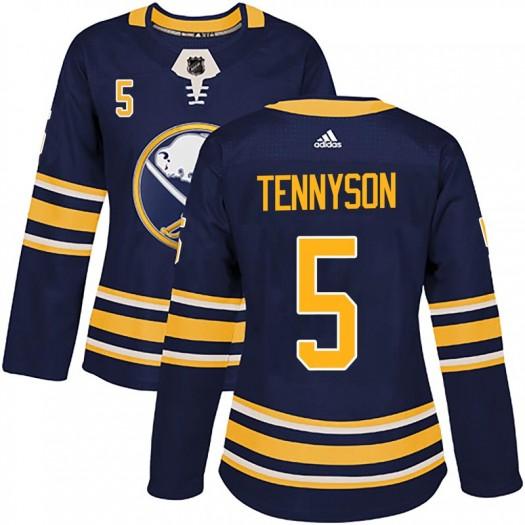 Matt Tennyson Buffalo Sabres Women's Adidas Authentic Navy Home Jersey