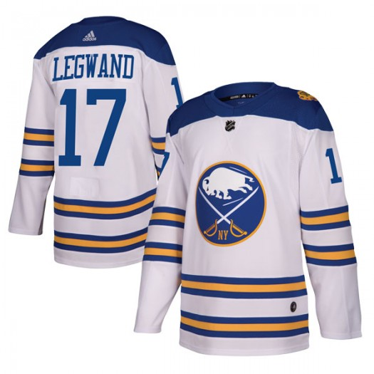 David Legwand Buffalo Sabres Youth Adidas Authentic White 2018 Winter Classic Jersey
