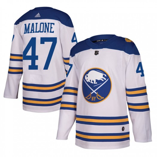 Sean Malone Buffalo Sabres Youth Adidas Authentic White 2018 Winter Classic Jersey