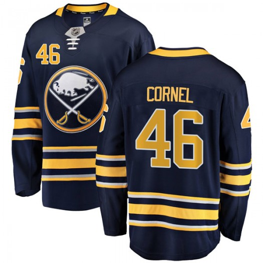 Eric Cornel Buffalo Sabres Men's Fanatics Branded Navy Blue Breakaway Home Jersey