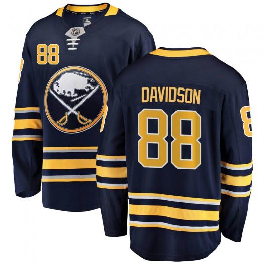 Brandon Davidson Buffalo Sabres Men's Fanatics Branded Navy Blue Breakaway Home Jersey