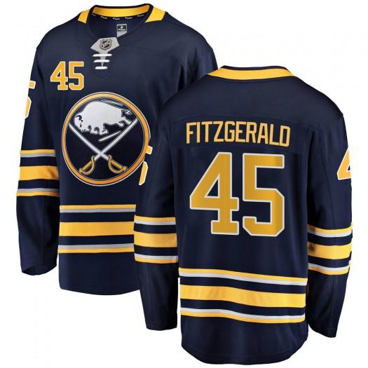 Casey Fitzgerald Buffalo Sabres Men's Fanatics Branded Navy Blue Breakaway Home Jersey