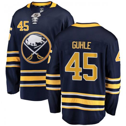 Brendan Guhle Buffalo Sabres Men's Fanatics Branded Navy Blue Breakaway Home Jersey