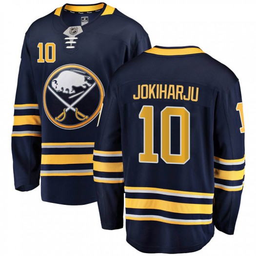 Henri Jokiharju Buffalo Sabres Men's Fanatics Branded Navy Blue Breakaway Home Jersey