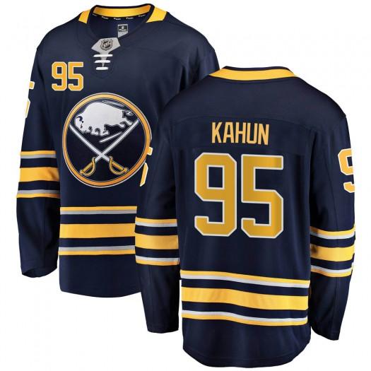Dominik Kahun Buffalo Sabres Men's Fanatics Branded Navy Blue ized Breakaway Home Jersey