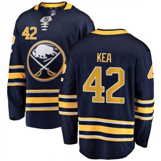 Justin Kea Buffalo Sabres Men's Fanatics Branded Navy Blue Breakaway Home Jersey