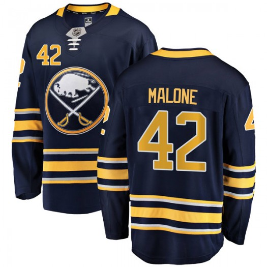 Sean Malone Buffalo Sabres Men's Fanatics Branded Navy Blue Breakaway Home Jersey