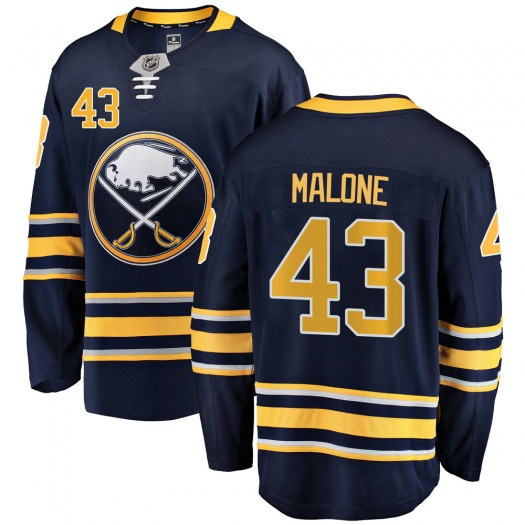 Sean Malone Buffalo Sabres Men's Fanatics Branded Navy Blue Breakaway Home Jersey