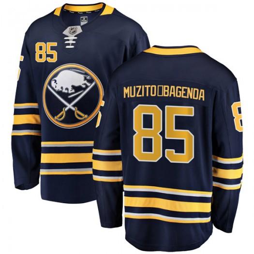 Daniel Muzito-Bagenda Buffalo Sabres Men's Fanatics Branded Navy Blue Breakaway Home Jersey