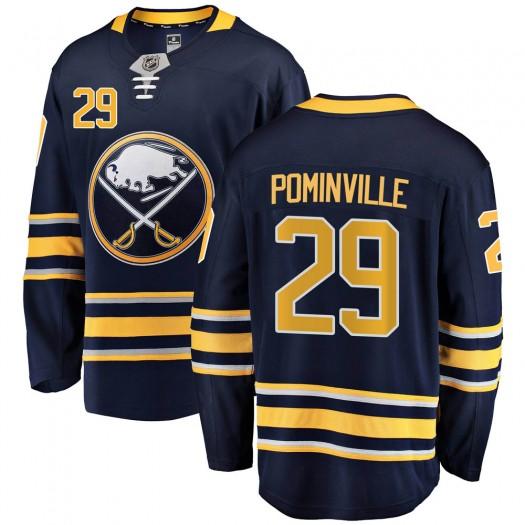 Jason Pominville Buffalo Sabres Men's Fanatics Branded Navy Blue Breakaway Home Jersey