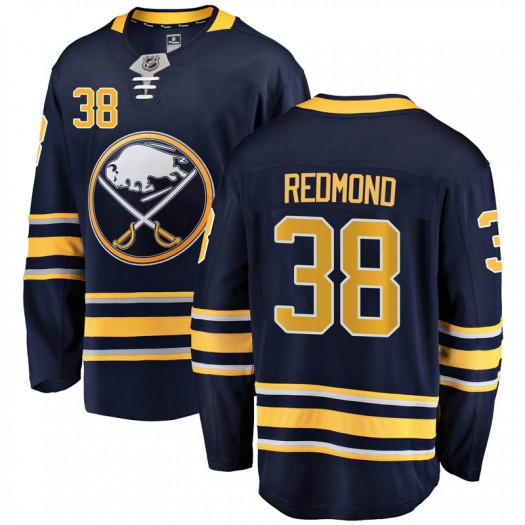 Zach Redmond Buffalo Sabres Men's Fanatics Branded Navy Blue Breakaway Home Jersey