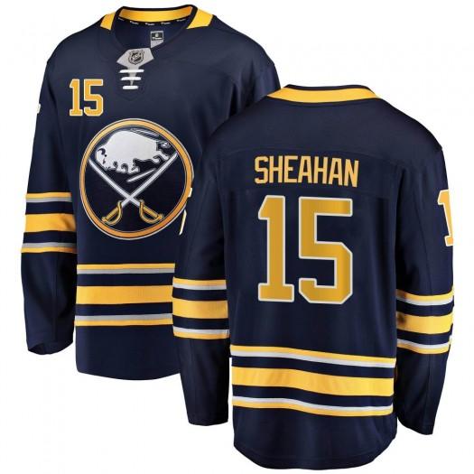 Riley Sheahan Buffalo Sabres Men's Fanatics Branded Navy Blue Breakaway Home Jersey