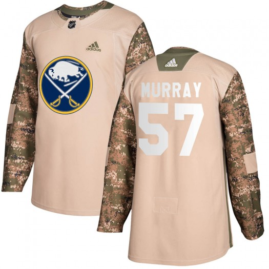 Brett Murray Buffalo Sabres Youth Adidas Authentic Camo Veterans Day Practice Jersey