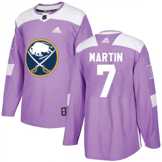Rick Martin Buffalo Sabres Men's Adidas Authentic Purple Fights Cancer Practice Jersey