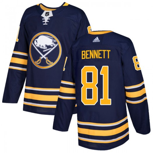 Mac Bennett Buffalo Sabres Men's Adidas Authentic Navy Home Jersey
