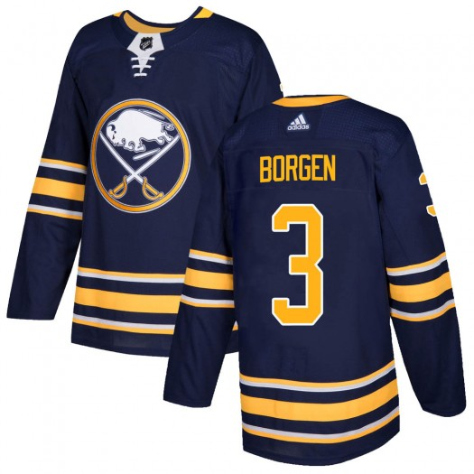 Will Borgen Buffalo Sabres Men's Adidas Authentic Navy Home Jersey