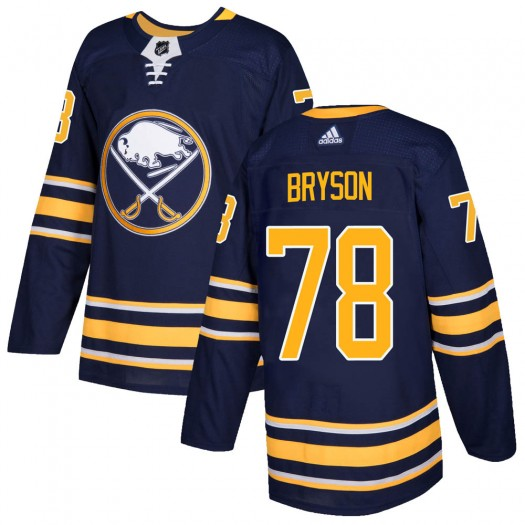 Jacob Bryson Buffalo Sabres Men's Adidas Authentic Navy Home Jersey